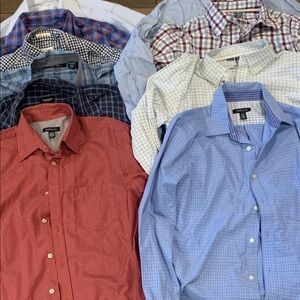 Men dressing shirts worn lightly or never worn